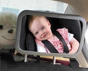 Spiegel Auto Baby : Badass sharks rücksitzspiegel für babys bruchsicherer spiegel für