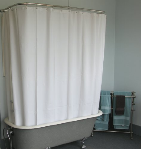 Curtains Ideas claw foot tub shower curtain : Amazon.com: Extra Wide Vinyl Shower Curtain for a Clawfoot Tub ...