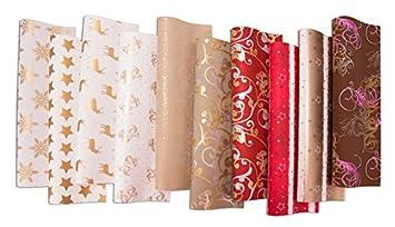 Geschenkpapier Weihnachten.10 Rollen Weihnachtspapier Geschenkpapier Weihnachten 2m X 0 70m