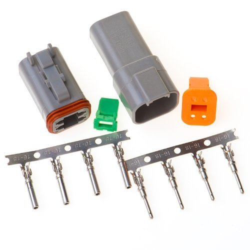 Deutsch 4-pin Connector Kit W/housing, Terminals, Pins, and Seals 14-16 Gauge Crimp Style Terminals - 4p Kit