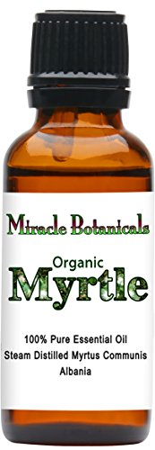 Miracle Botanicals Organic Myrtle Essential Oil - 100% Pure Myrtus Communis - 10ml or 30ml Sizes - Therapeutic Grade - 30ml/1oz. by Miracle Botanicals
