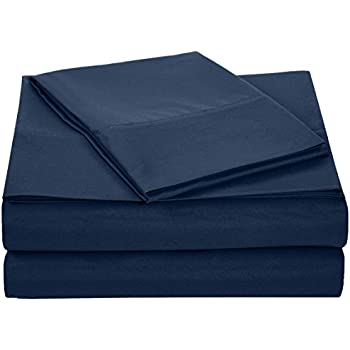 Delicieux AmazonBasics Microfiber Sheet Set   Twin, Navy Blue