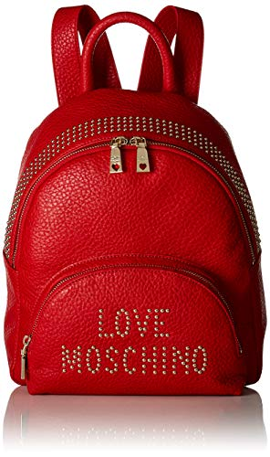 Rosso Love Women��s Pu Handbag Borsa Moschino Grain Backpack Red qqxSr8Aw