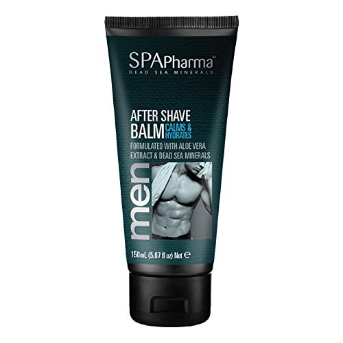SpaPharma Calming and Hydrating Mens After Shave Balm with Aloe Vera Extract and Active Dead Sea Minerals 5.07 fl. - Balm Active Spa