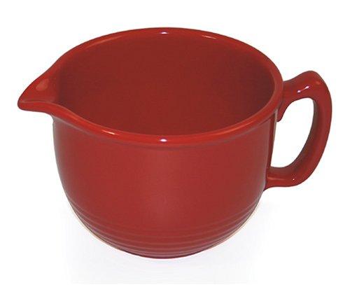 - Chantal 3-Cup Ring Pouring Bowl, Glossy Cinnabar