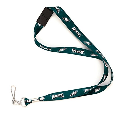 Philadelphia Eagles NFL Football Sports Team Breakaway Lanyard with Key Ring by WinCraft