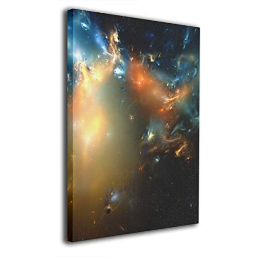 Paintings Canvas Framed Inside Space Wallpaper Decorations Pictures Wall Art for Home Decor Living Room Bedroom Stretched Ready to Hang 20x16 Inches ()