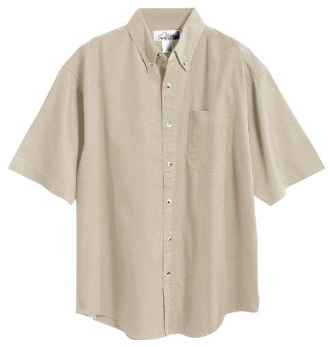 Tri-Mountain 768 Recruit Teflon Stain-Resistant Woven Shirt, Khaki, 4XLT ()