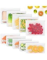 Viedouce Herbruikbare voedsel opslag tassen, herbruikbare sandwich tassen, lekvrije Ziplock Lunch Freezer tassen, herbruikbare snacktassen voor reizen,Food Grade BPA gratis