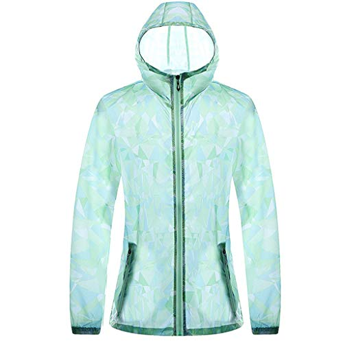 Sun Hoodie Couple Sunscreen UV Sun Protection Hooded Outdoor Sunscreen Quick Dry Long Sleeves Fishing Shirts (M, Green)