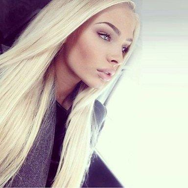 mujeres pelo auténtico Lace peluca pelo auténtico Completo punta Lace frontal judía. 130% Densidad