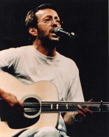 ブロマイド写真★エリック・クラプトン Eric Clapton/ギターを弾き歌う・Tシャツの商品画像