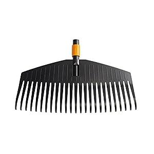 Fiskars Leaf Rake, Tool Head, 25 Tines, Width: 50 cm, Plastic Tines, Black/Orange, QuikFit, 1000642