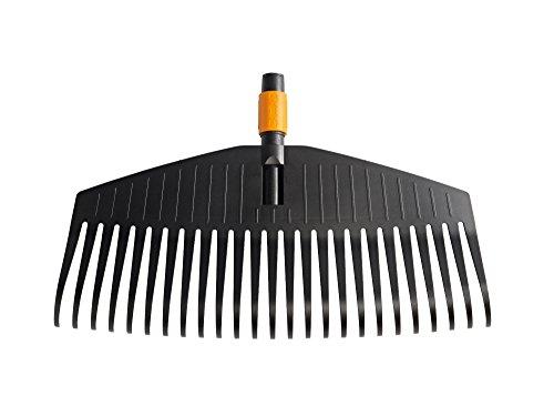 Fiskars Bladhark, gereedschapskop, 25 tanden, breedte: 50 cm, kunststof tanden, zwart/oranje, QuikFit, 1000642