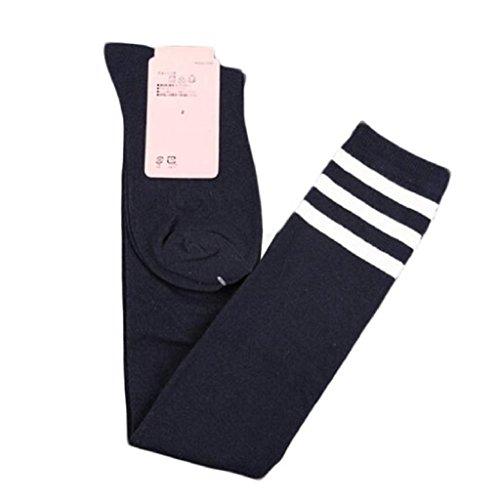 Leg Warmers, Yoyorule Women Girl Over Knee Boot Cover Soft Cotton Socks (Navy) by Yoyorule