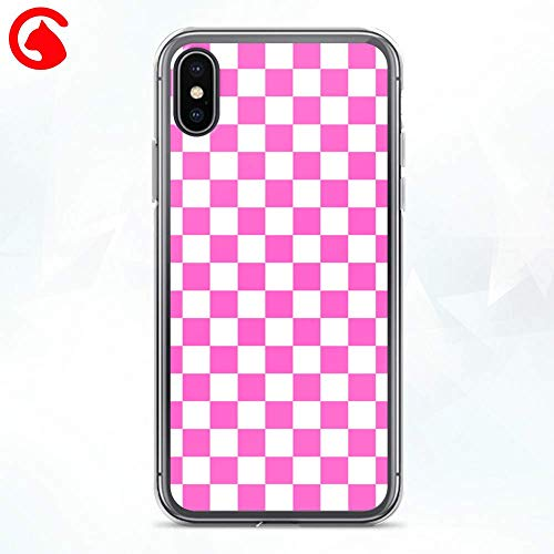 Checkers Protector Case (CatixCases Checkered Phone Case Checkers Texture Check Pattern Cell Plastic Сlear Case for Apple iPhone X/XS/XR/XS Max / 7/8 / plus iPhone 6 / 6S plus Protector Protective Cover Art Design)