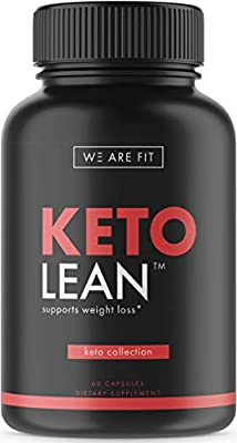 """Keto Lean - Ketogenic Supplement to Support Healthy Weight Loss, Carb """"Free"""" & Burn Fat - Includes Garcinia Cambogia, Green Tea & More, 60 Veggie Caps"""