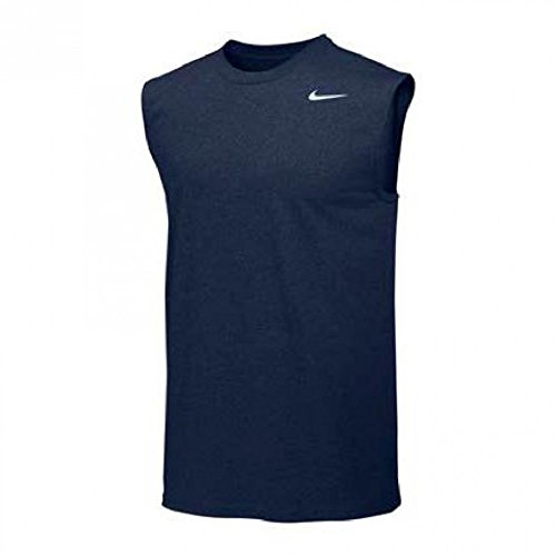 Nike Mens Legend Dri Fit Sleeveless T Shirt (Large, Navy)