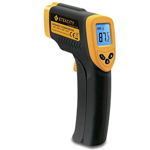 Etekcity Lasergrip 774 Non-contact Digital Laser Infrared Thermometer -58℉~ 716℉ (-50℃~380℃), Yellow and Black (Heat Sensor)