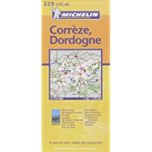 Michelin France, Correze, Dordogne Map No. 329