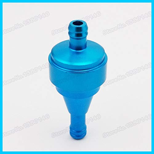 Fincos Aluminum Gas Blue Fuel Filter for ATV Quad Scooter Gas Push Bicycle Motorcycle Pit Dirt Bike Motocross