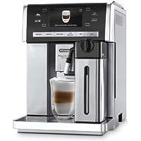 De'Longhi PrimaDonna Exclusive ESAM 6900 Kaffeevollautomat (1350 Watt, 4,6 Zoll TFT-Farbdisplay, integriertes Milchsystem, Kakao/ - Trinkschokoladenfunktion, Edelstahlgehäuse) silber/edelstahl