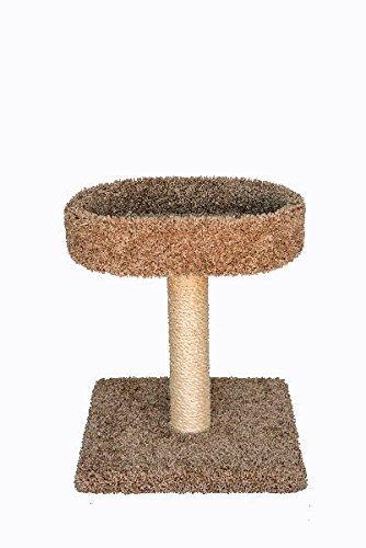 Miller's Cats 1012 2-Foot Plush Tree Carpeted Platform Cat Furniture Brown 24