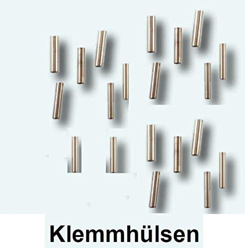 20 Klemmh/ülsen 0,8mm Klemmh/ülse Quetschh/ülsen Raubfischangeln