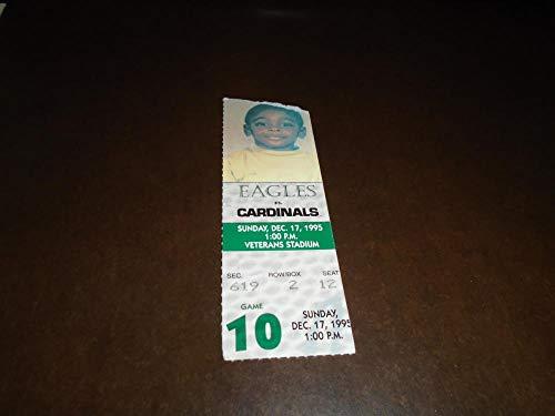 1995 CARDINALS AT PHILADELPHIA EAGLES FOOTBALL TICKET STUB