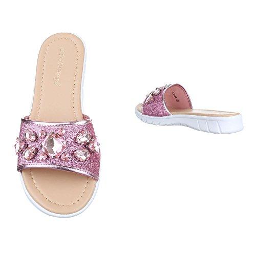 de contemporáneo Ital y baile Rosa jazz Design zapatillas Mujer OO4EY