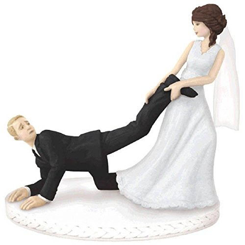 Amscan Hilarious Leg Puller Wedding Cake Topper, 4