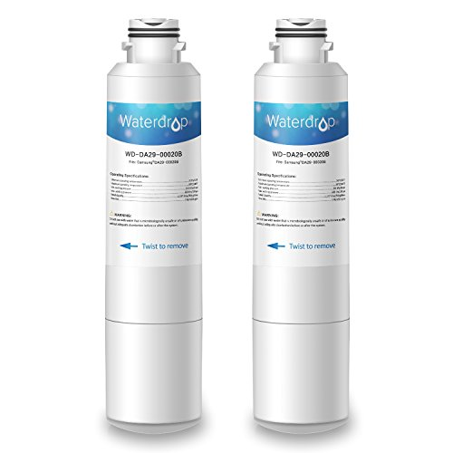 Price comparison product image 2 Pack Waterdrop DA29-00020B-2 Replacement for Samsung DA29-00020B, DA29-00020A, HAF-CIN/EXP, 46-9101 Refrigerator Water Filter