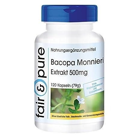 Extracto de Bacopa Monnieri 500mg – 20% de bacósidos – vegano – 120 cápsulas –