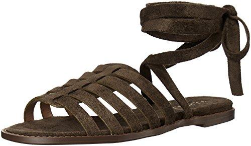 Report Women's Zella Flat Sandal, Olive, 10 M US ()