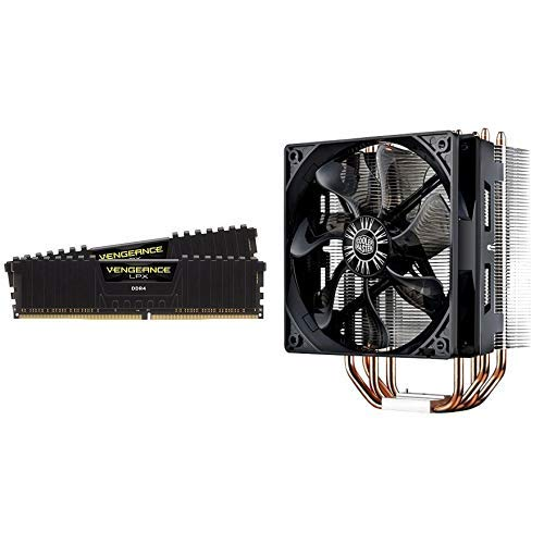 Desktop Evo Memory (Corsair Vengeance LPX 16GB (2x8GB) DDR4 DRAM 2400MHz C16 Desktop Memory Kit w/Cooler Master Hyper 212 Evo CPU Cooler)