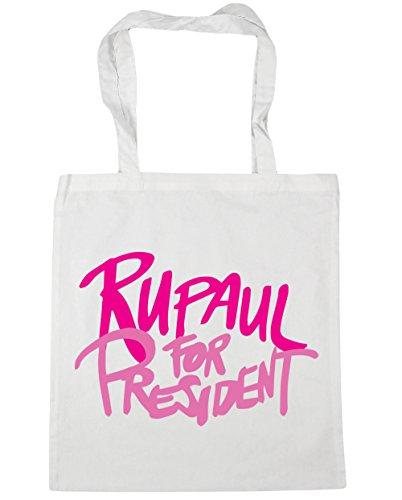 x38cm White Gym Shopping Bag Tote Beach president litres 10 42cm HippoWarehouse for Rupaul XxqBc6z