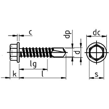 Sechskantkopf mit Bund-K galv Bohrschrauben verzinkt DIN 7504-4,8 x 19-1000 St/ück