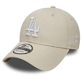 9f34973d2ba0 New Era Casquette 9FORTY League Essential L.A. Dodgers Blanc cassé  Ajustable  Amazon.fr  Vêtements et accessoires