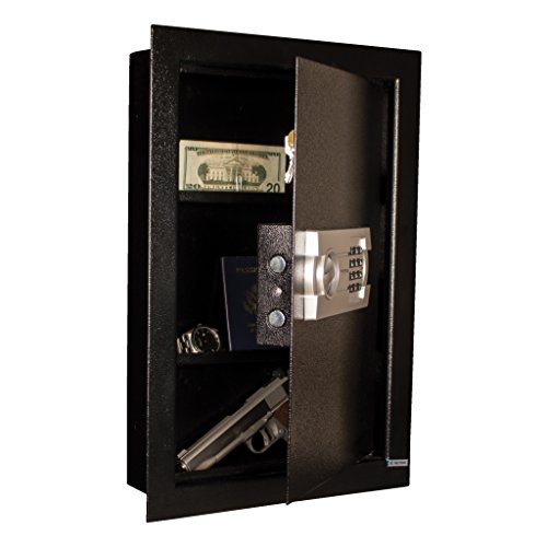 Tracker Safe WS211404-E Steel Wall Safe, Electronic Lock, Black Powder Coat Paint, 0.60 cu. ft. by Tracker Safe (Image #2)