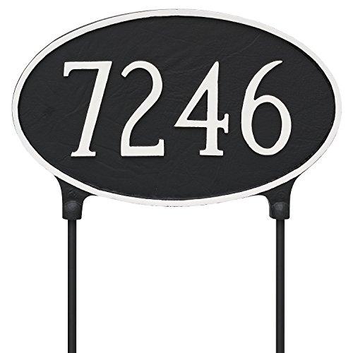 Oval Lawn Plaque - Montague Metal TSL-0002S1-L-GS 10.5