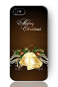 New Classic Charming Design Personalized Hard Plastic Snap on Slim Fit Vintage Christmas Bells Funny iphone 4s Case