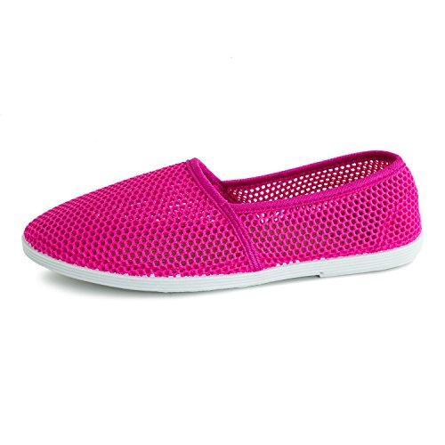 Kali Schoenen Dames Canvas Slip Op Mesh Schoenen (volwassenen) Hot Pink