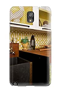 CbrrPZQ7714cRZuS Case Cover Protector For Galaxy Note 3 Green Trellis Laundry Room Farmhouse Sink Case