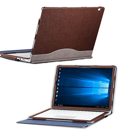 """Surface Book 3/2/1 Case Cover 13.5 Inch, Detachable Protective Folio Case Cover for 13"""" Microsoft Surface Book (13.5"""" Surface Book 3/2/1,Coffee)"""