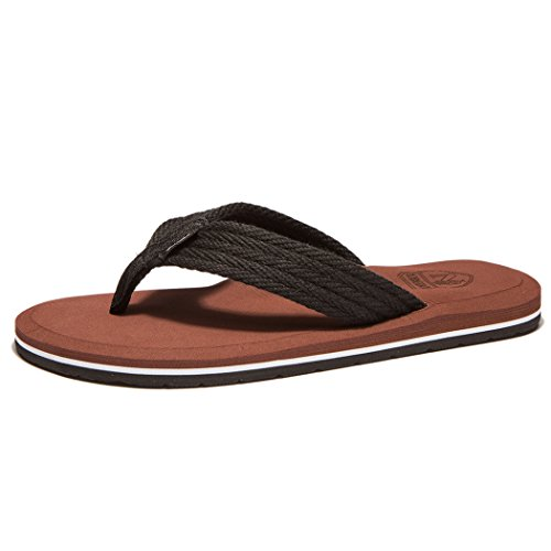 NewDenBer NDB Men's Classical Light Weight III Flip-Flop (10 M US, Brown)