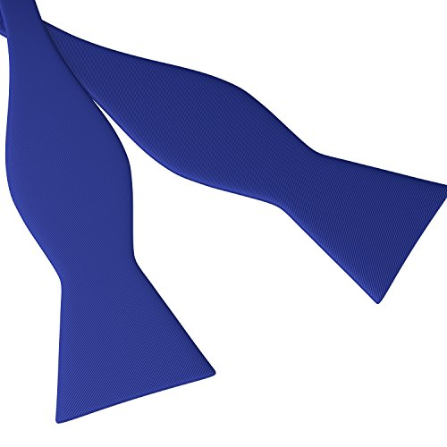 Tie Bow Royal Blue (Fly & Dapper Handmade Formal Self Tied Bow Tie for Men - Adjustable Bowtie)