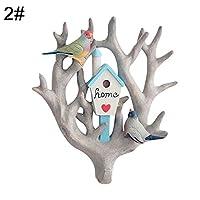 Yamalans 3D Parrot Clothes Wall Mount Coat Hook for Coat Towels Bags Door Hanger Rack for Bedroom Hallway Kitchen Decorative Home Storage 2#