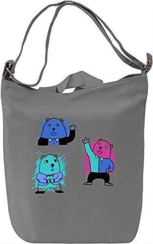Cute Bears Borsa Giornaliera Canvas Canvas Day Bag  100% Premium Cotton Canvas  DTG Printing 