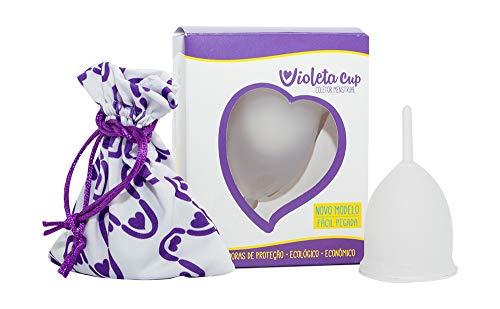 Violeta Cup Coletor Menstrual Transparente Tipo A, Violeta Cup, Incolor, Tipo A  Mulheres A Partir De 30 Anos Ou Com Filhos, E/Ou Com Colo Do Útero De Altura Média E Alta