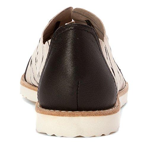 Alle Zwarte Dames Cap Teen Drip Oxfords Schoenen Ivoor